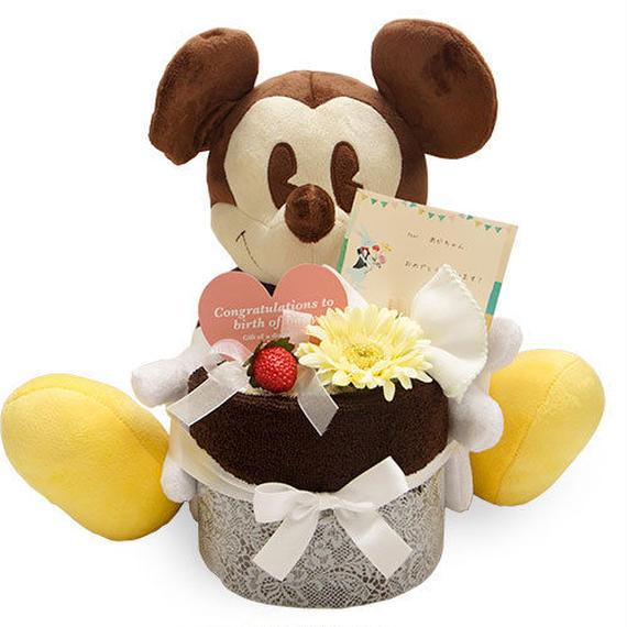 世界一のアイドル♪ミッキーマウス♪ミッキーのオムツケーキ(1段)