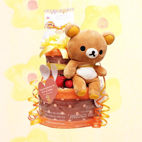 リラックマのおむつケーキ(2段)