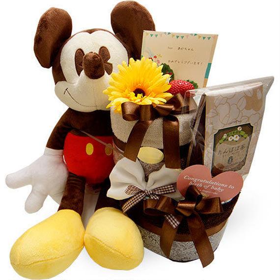世界一のアイドル♪ミッキーマウス♪ミッキーのオムツケーキ(2段)