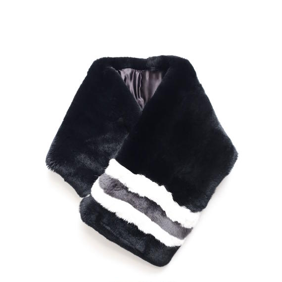 SHAREEF FUR MUFFLER(Black)