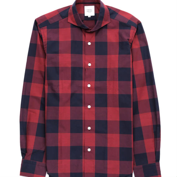 FEEL EASY ORIGINAL レッドブロックチェックシャツ(Red)