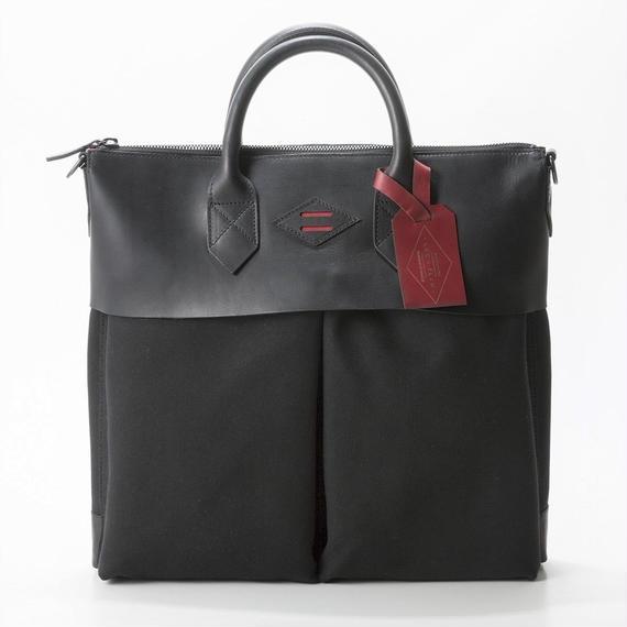 LEON FLAM Sac21H Comte de la Vaulx/Leather×Camvas