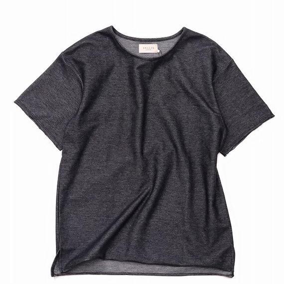 VALLIS by FACTOTUM フロートインレー BIG Tシャツ(BLACK)