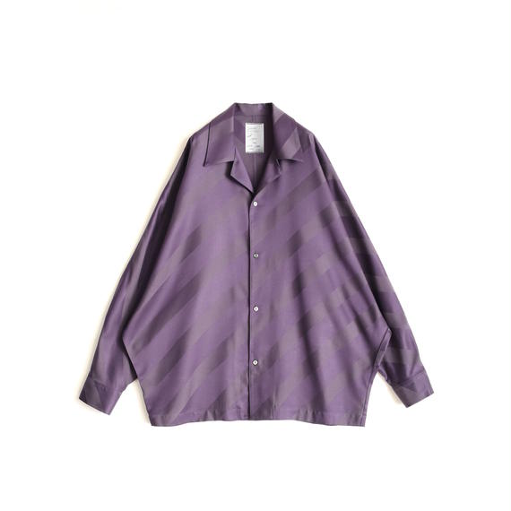 SHAREEF BIAS STRIPE DOLMAN SHIRTS(Purple)