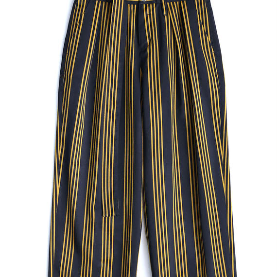 SHAREEF STRIPE WIDE PANTS(Black×Yellow)