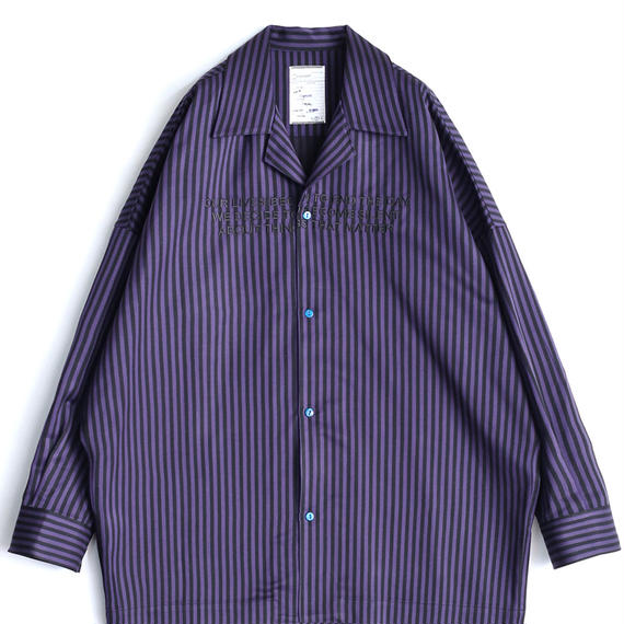 SHAREEF STRIPE PAJAMA SHIRTS(Purple)
