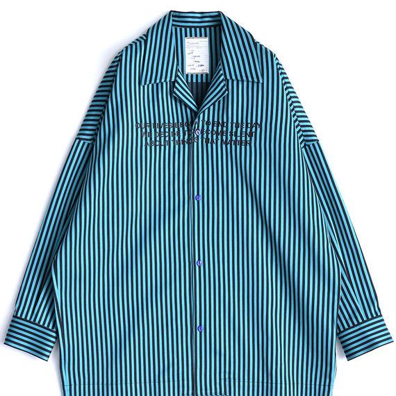 SHAREEF STRIPE PAJAMA SHIRTS(Turquoise)