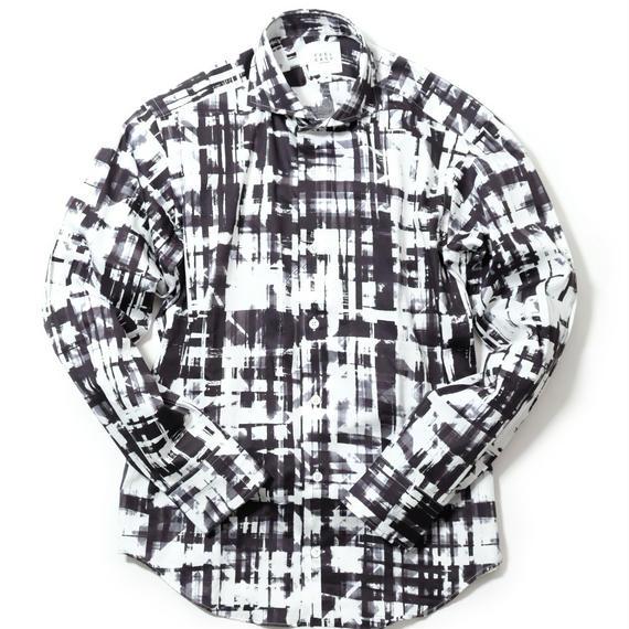 FEEL EASY ORIGINAL ペイントプリント シャツ(Black)