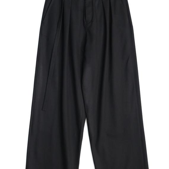 SHAREEF RAYON GABARDINE WIDE PANTS