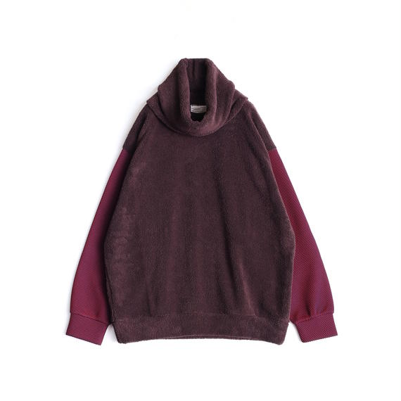 SHAREEF POLYESTER MOLE PULL OVER(REMOVABLE NECK)(Brown)