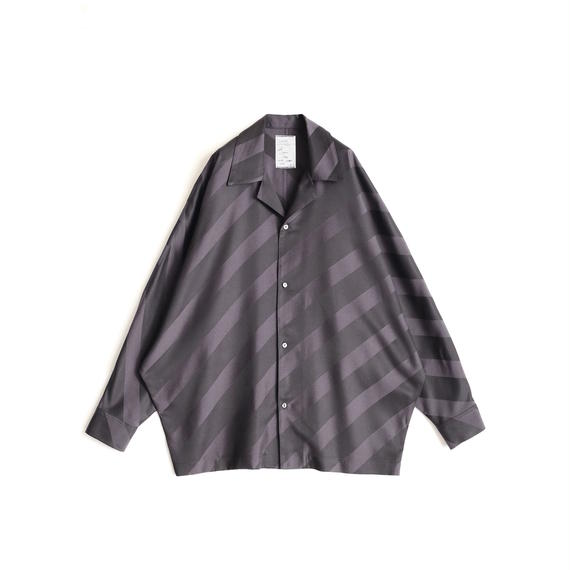 SHAREEF BIAS STRIPE DOLMAN SHIRTS(Black)