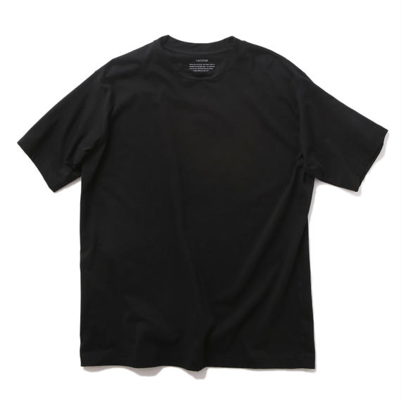 FACTOTUM スイスコットン天竺 クルーS/S(BLACK)