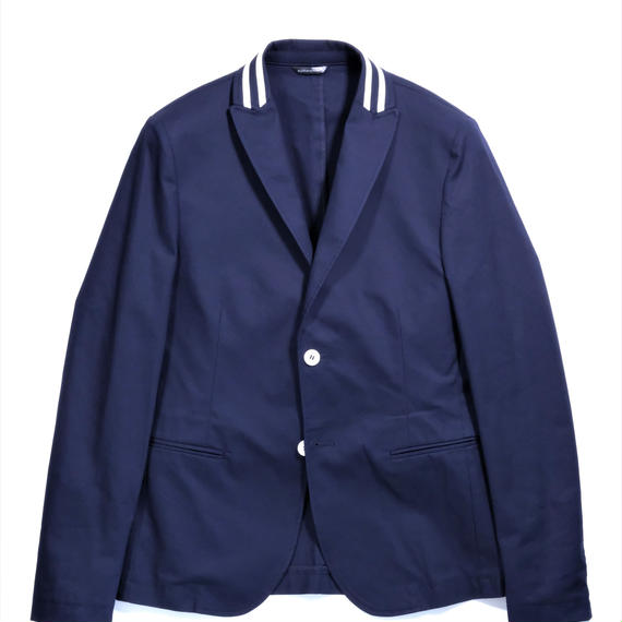 DANIELE ALESSANDRINI DOUBLE STRIPE COTTON JACKET(NAVY)