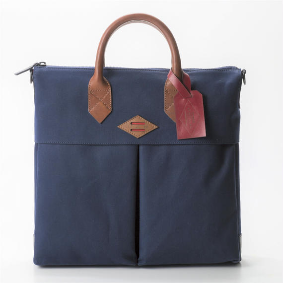 LEON FLAM Sac21H Comte de la Vaulx/Wax Camvas(Blue)