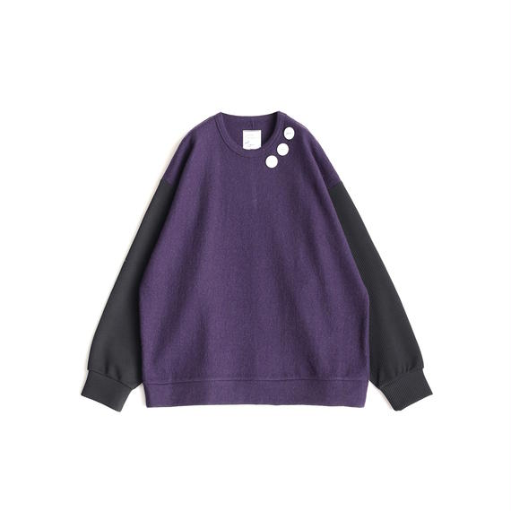 SHAREEF NEP WOOL L/S PULL OVER(Purple)