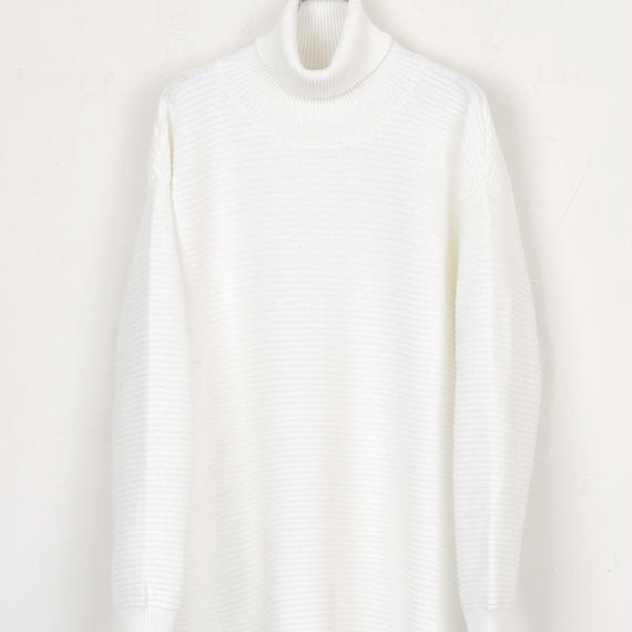 DISCOVERED TURTLENECK KNIT(WHITE)