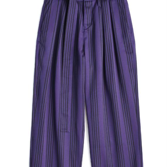 SHAREEF STRIPE WIDE PANTS(Purple×Black)