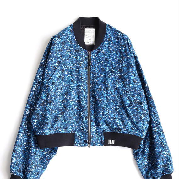 SHAREED COLOR CAMOUFLAGE RIB BLOUSON(Blue)