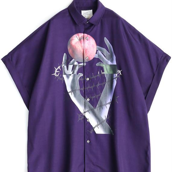 "SHAREEF ""APPLE"" S/S BIG SHIRTS(Purple)"
