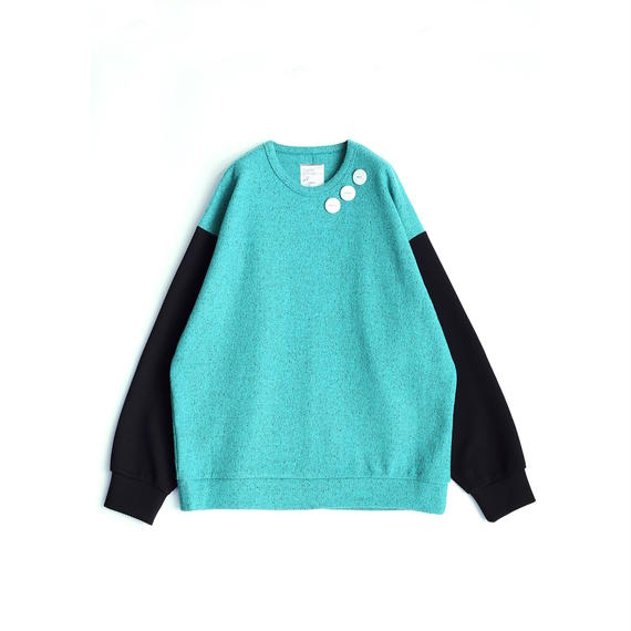 SHAREEF NEP WOOL L/S PULL OVER(Mint Green)
