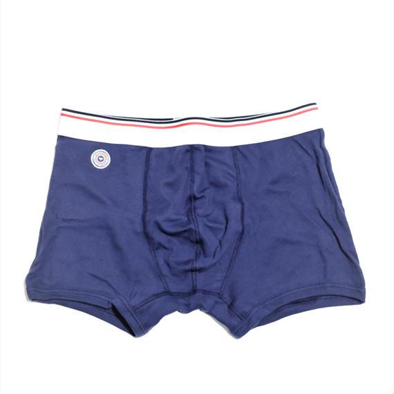 Le Slip Francais Permanent Cotton Boxer Briefs(Navy Blue)
