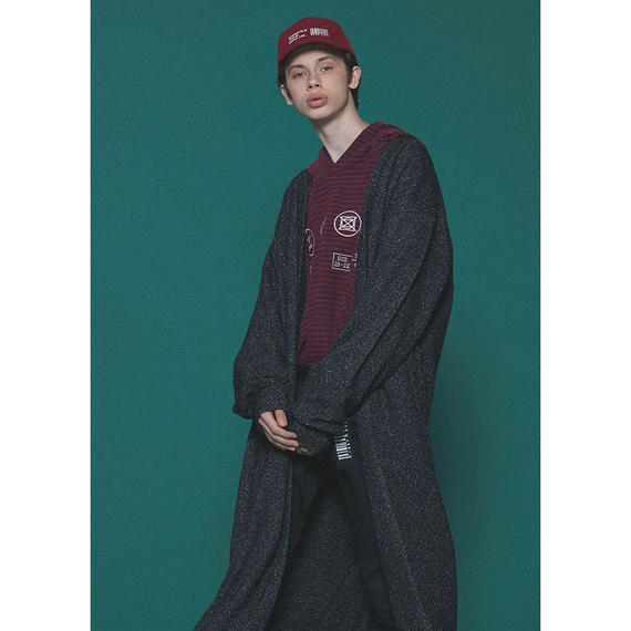 SHAREEF NEP WOOL LONG CARDIGAN(Black)