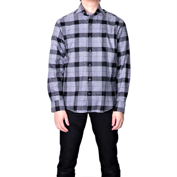 FEEL EASY ORIGINAL Nel Check Shirt(Black)