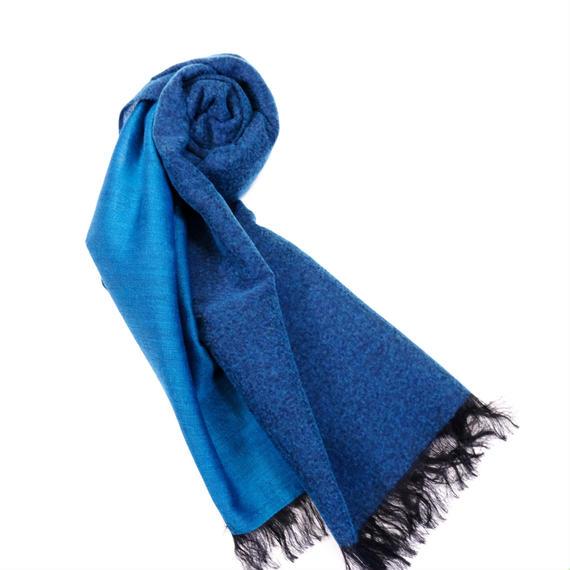 'Olu'Olu シルクウールストール(Blue)