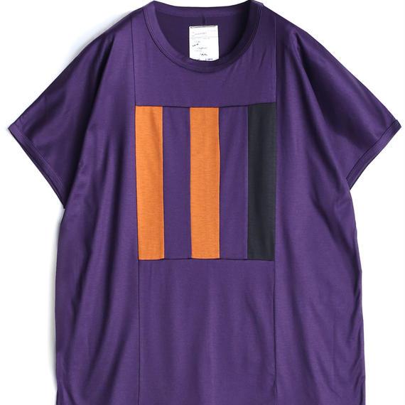 "SHAREEF Ly/C SINGLE JERSEY BIG-T""LINE""(Purple)"