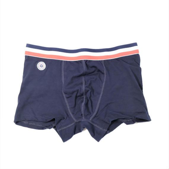 Le Slip Francais Permanent Lycra Boxer Briefs(Navy Blue)