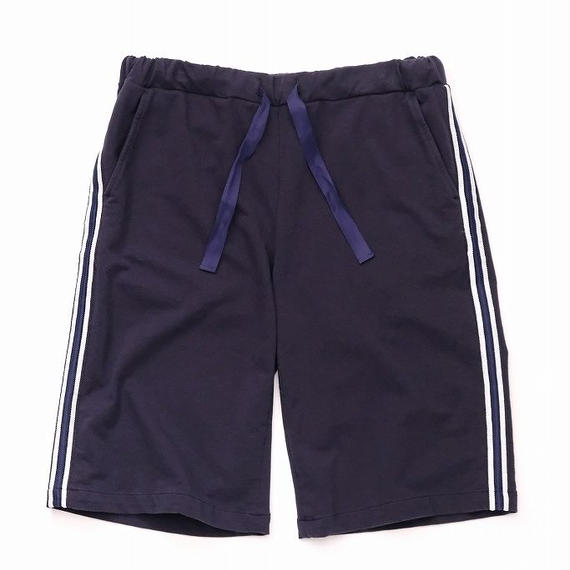 DANIELE ALESSANDRINI SIDE STRIPE SHORT PANTS(NAVY)
