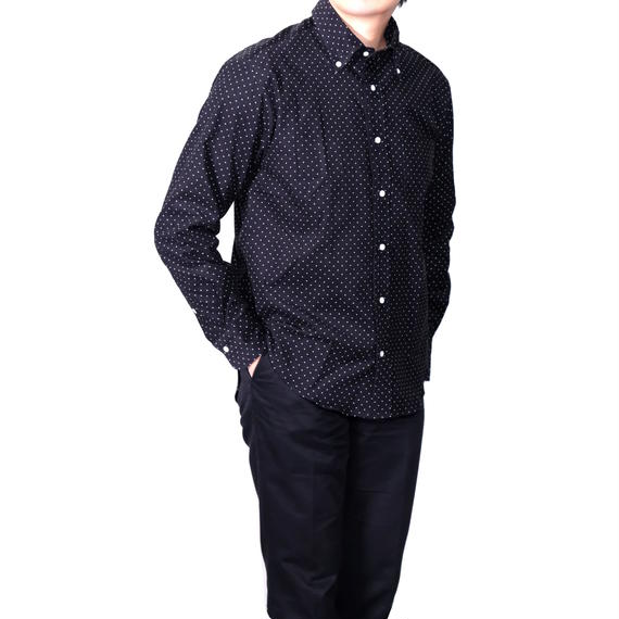 FEEL EASY ORIGINAL CORDUROY DOT B.D SHIRT(Black)