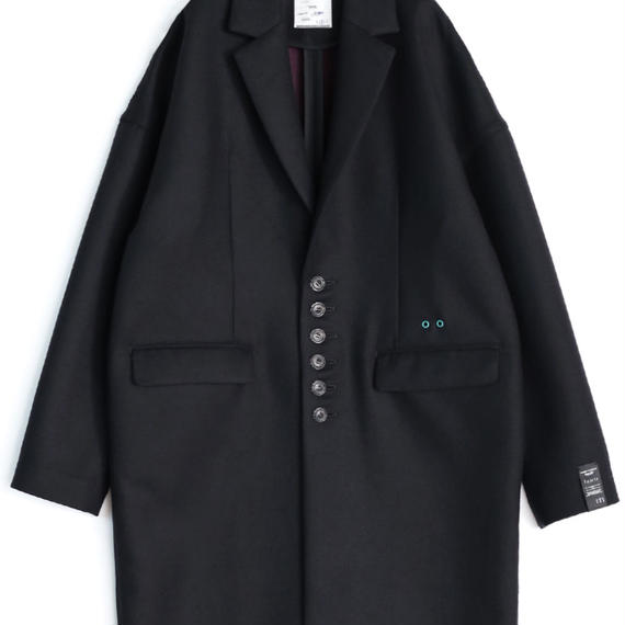 SHAREEF W-FACE CHESTER COAT