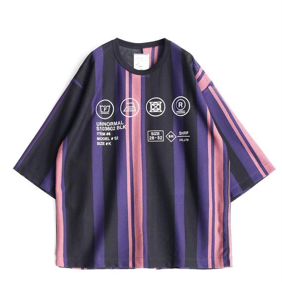 SHAREED BE MALTI STRIPE S/S BIG-T(Purple)