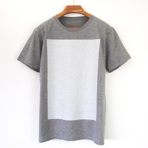 白角図Tシャツ_鼠(スリムシルエット /シルクスクリーンプリント)