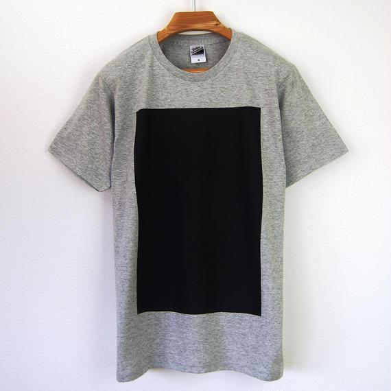 黒角図Tシャツ_鼠(スタンダードシルエット /シルクスクリーンプリント)
