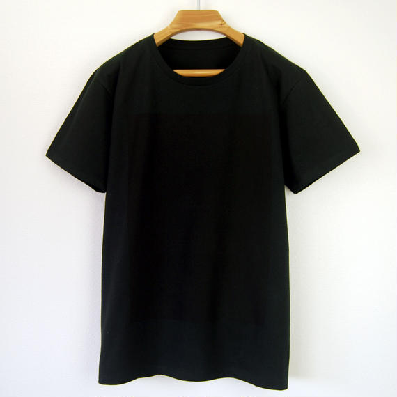 黒角図Tシャツ_黒(スリムシルエット/シルクスクリーンプリント)