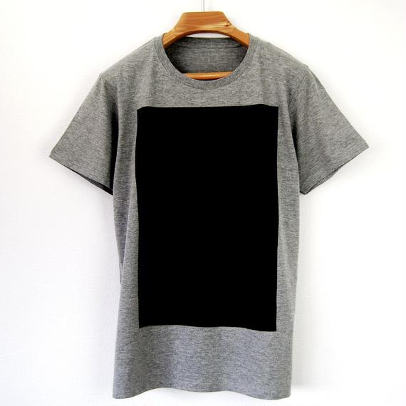 黒角図Tシャツ_鼠(スリムシルエット /シルクスクリーンプリント)