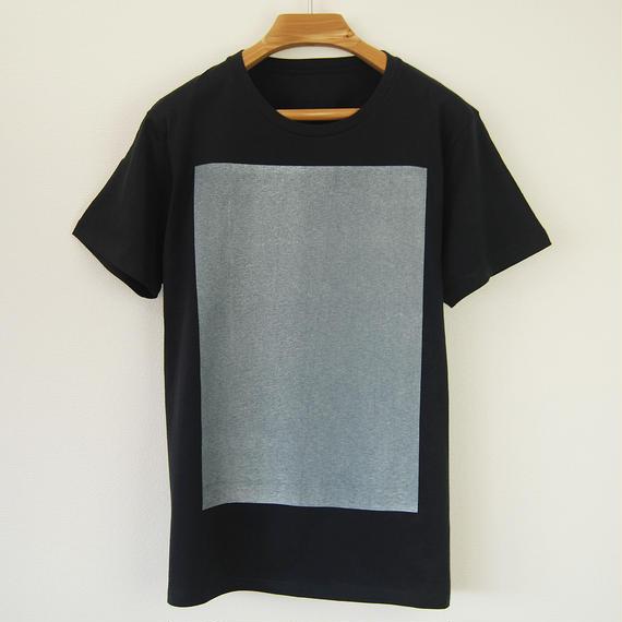 白角図Tシャツ_濃紺(スリムシルエット /シルクスクリーンプリント)