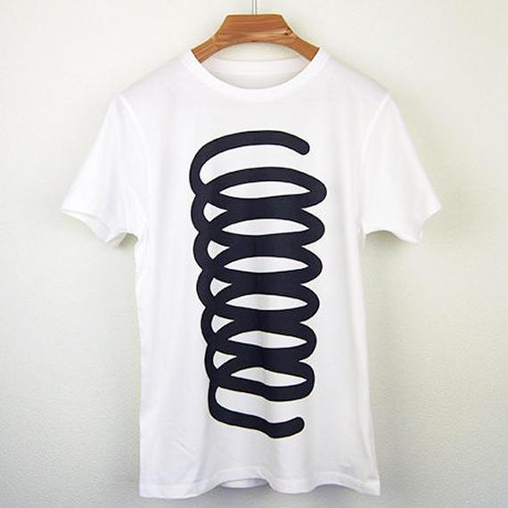 発条(ばね)図Tシャツ