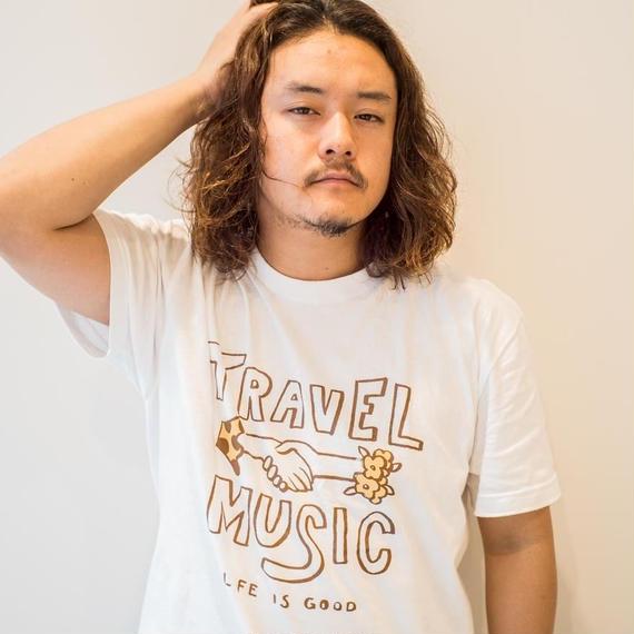 TRAVEL & MUSIC Tシャツ ホワイトver