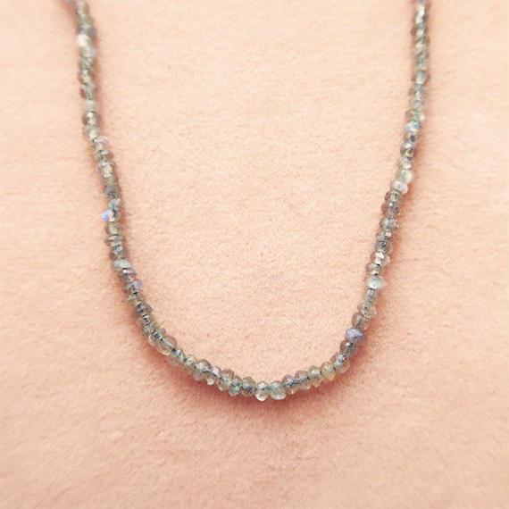Simple Stone  { Necklace }  labradolite