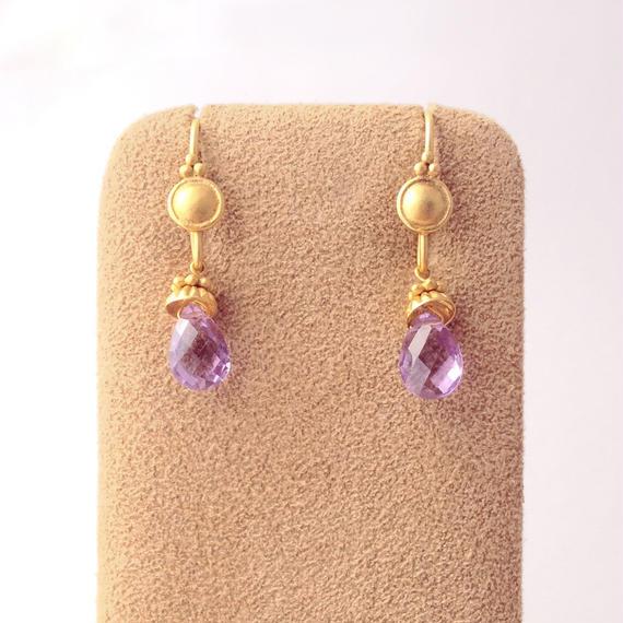 Petit Bell { Earrings } amethyst