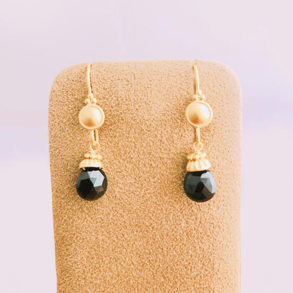 Petit Bell { Earrings } onyx