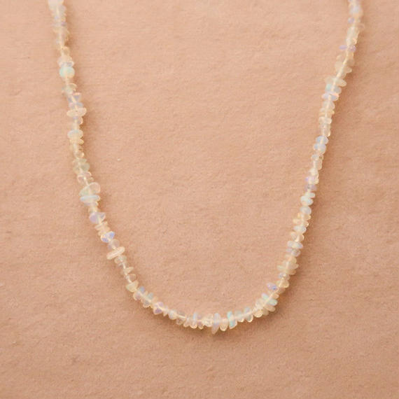 Simple Stone  { Necklace } opal