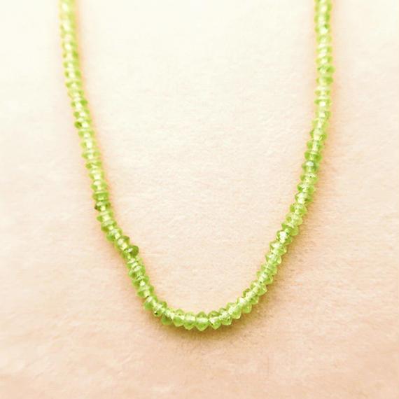 Simple Stone  { Necklace }  peridot
