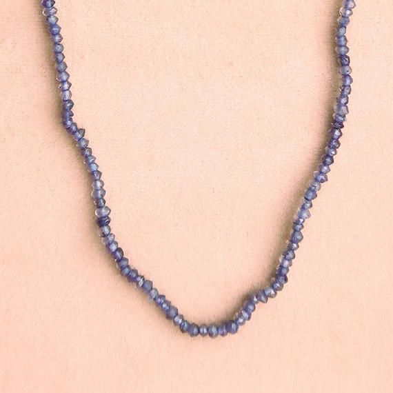 Simple Stone  { Necklace }  iolite