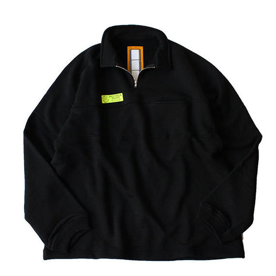 "NOROLL ""SHORE"" H/Z sweat shirts  - black"