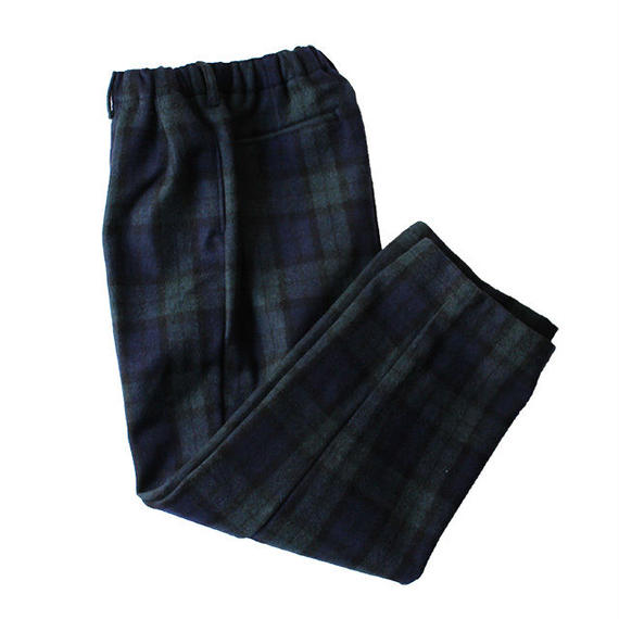 COMFORTABLE REASON / Wool 2tuck Laziest Slacks -Black Watch