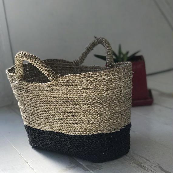 メンドン草かごバッグ